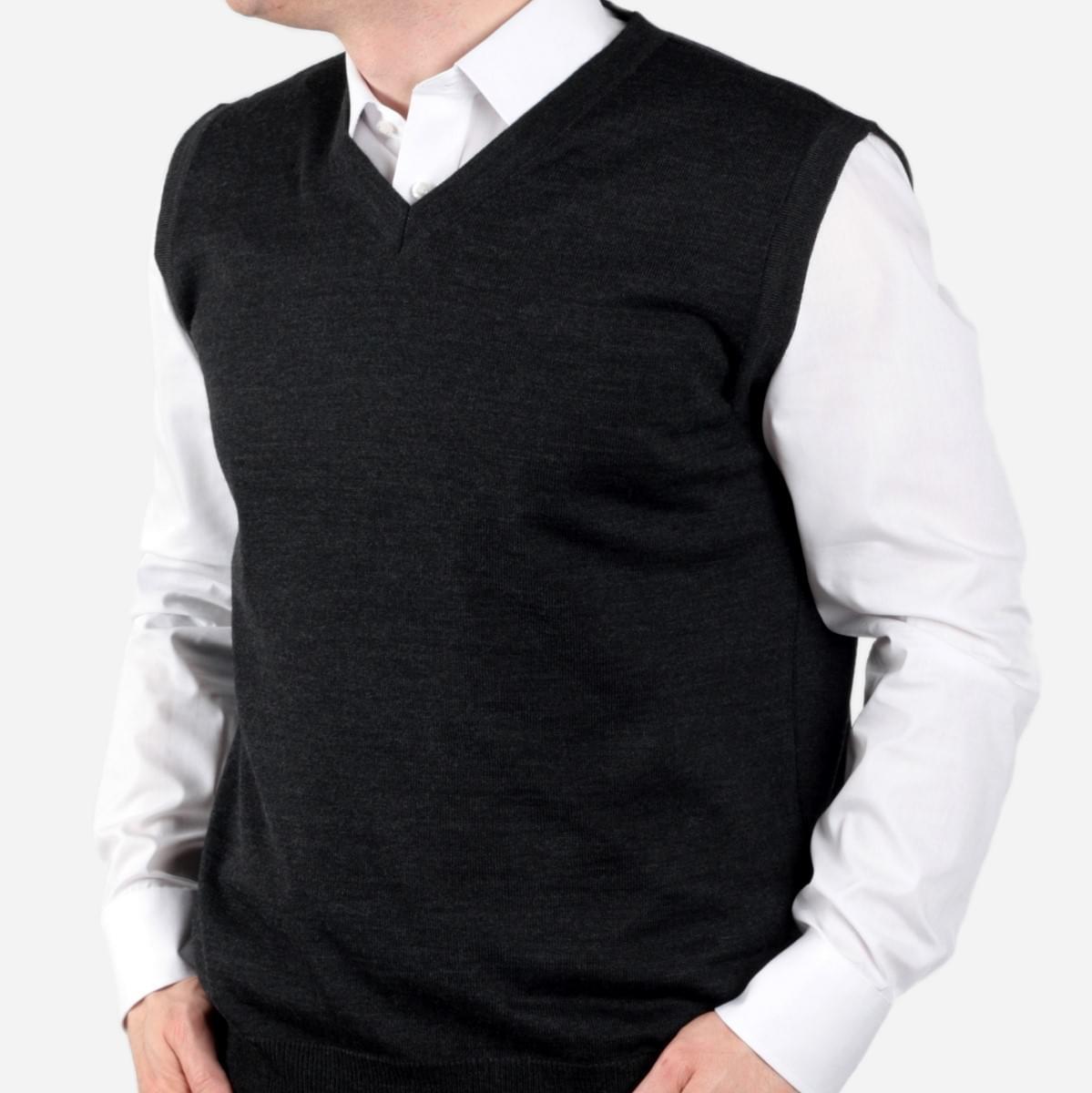 Pánská vesta Willsoor 704 v antracitové barvě M