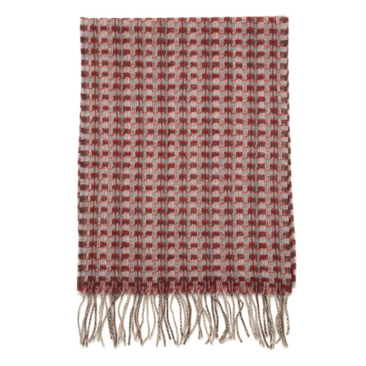 Pánská šála (vzor 171) 7102 v šedo-červené barvě