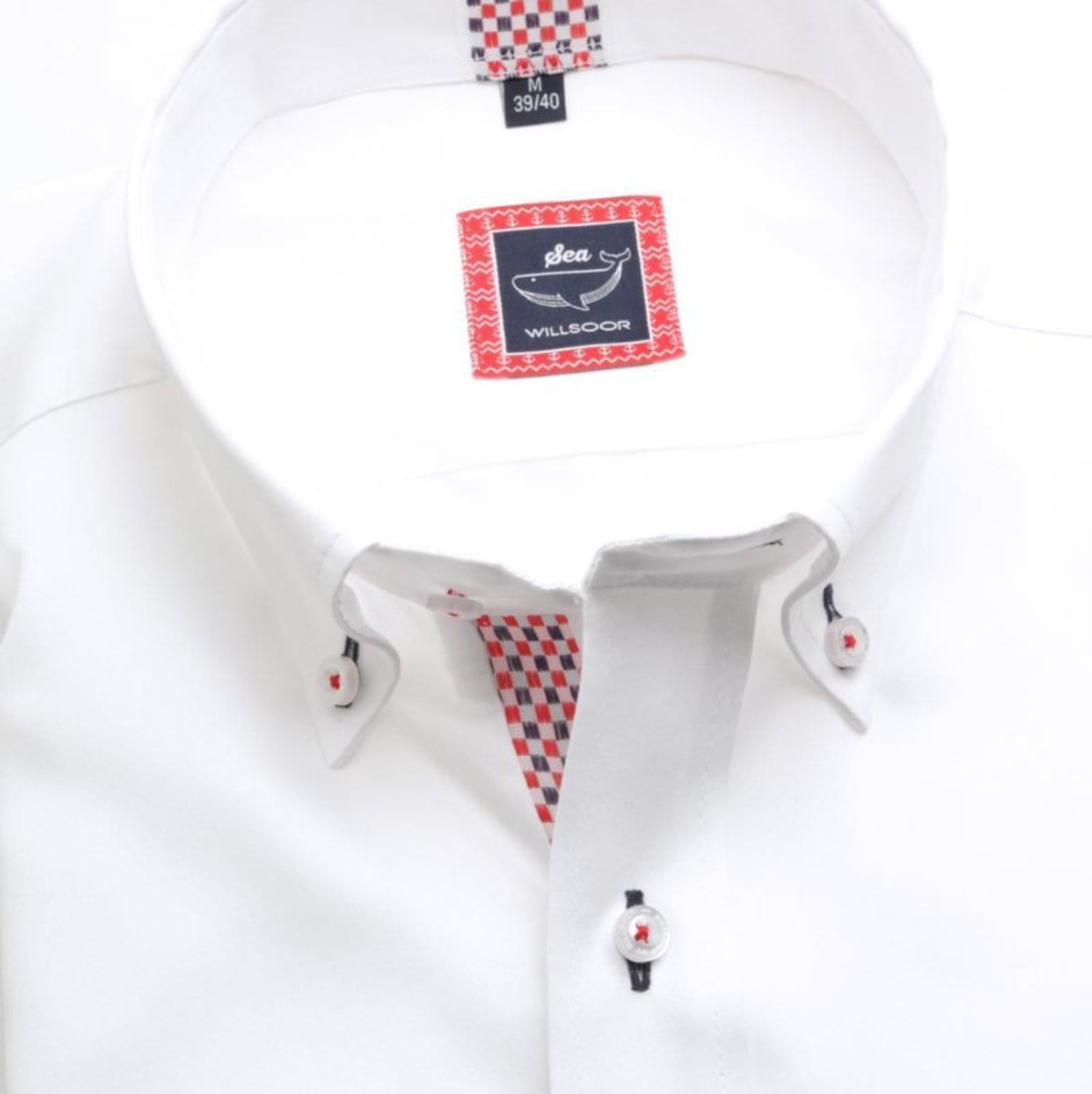 Pánská slim fit košile (výška 188-194) 7114 v bílé barvě s formulí Easy Care 188-194 / L (41/42)