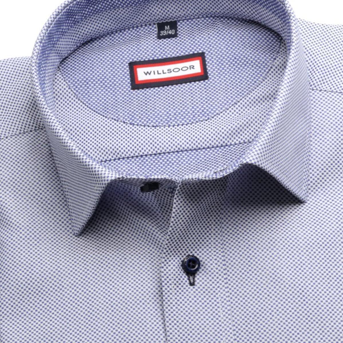 Pánská slim fit košile (výška 176-182) 7118 v modré barvě s formulí Easy Care 176-182 / L (41/42)