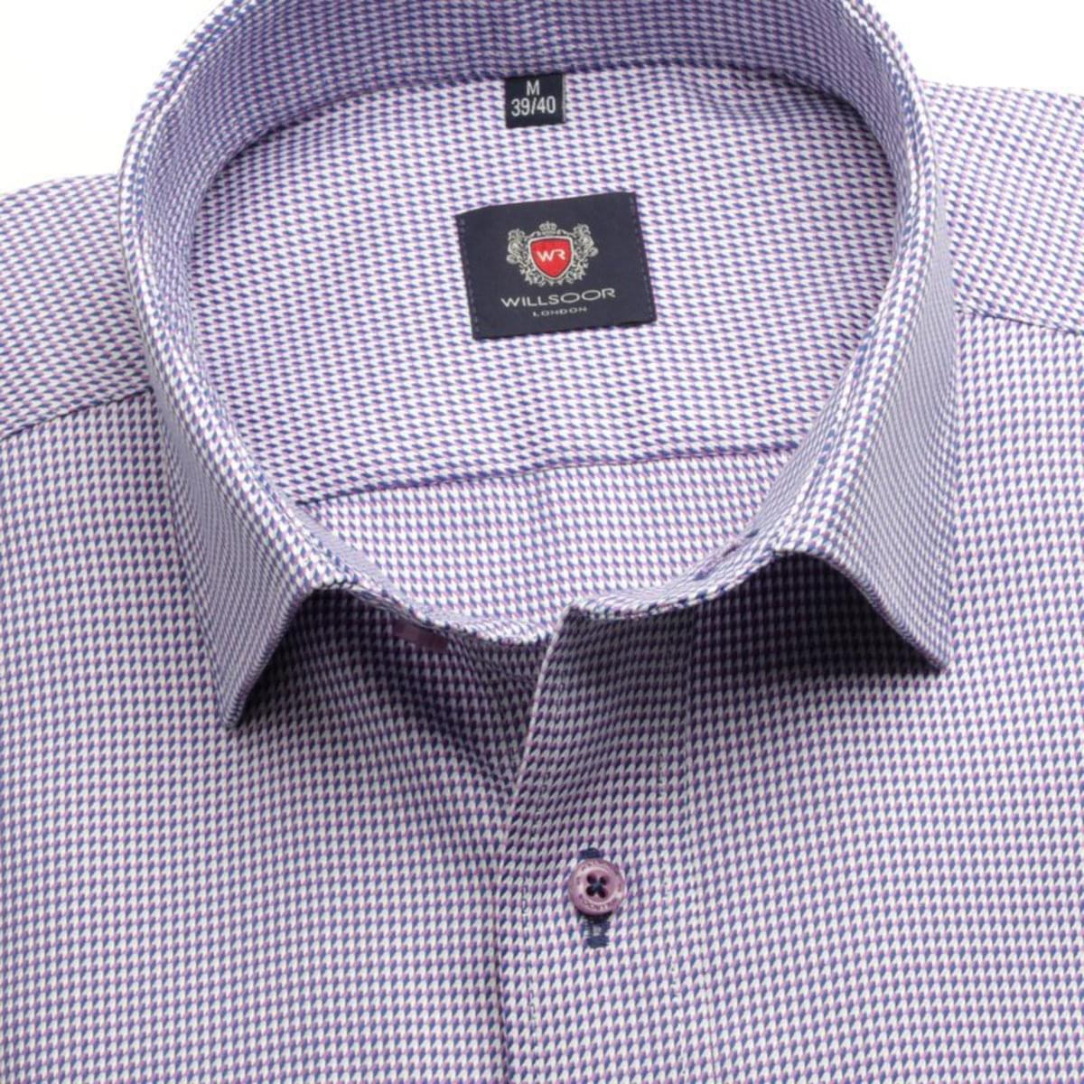 Pánská klasická košile London (výška 176-182) 7137 růžové barvě s formulí Easy Care 176-182 / L (41/42)