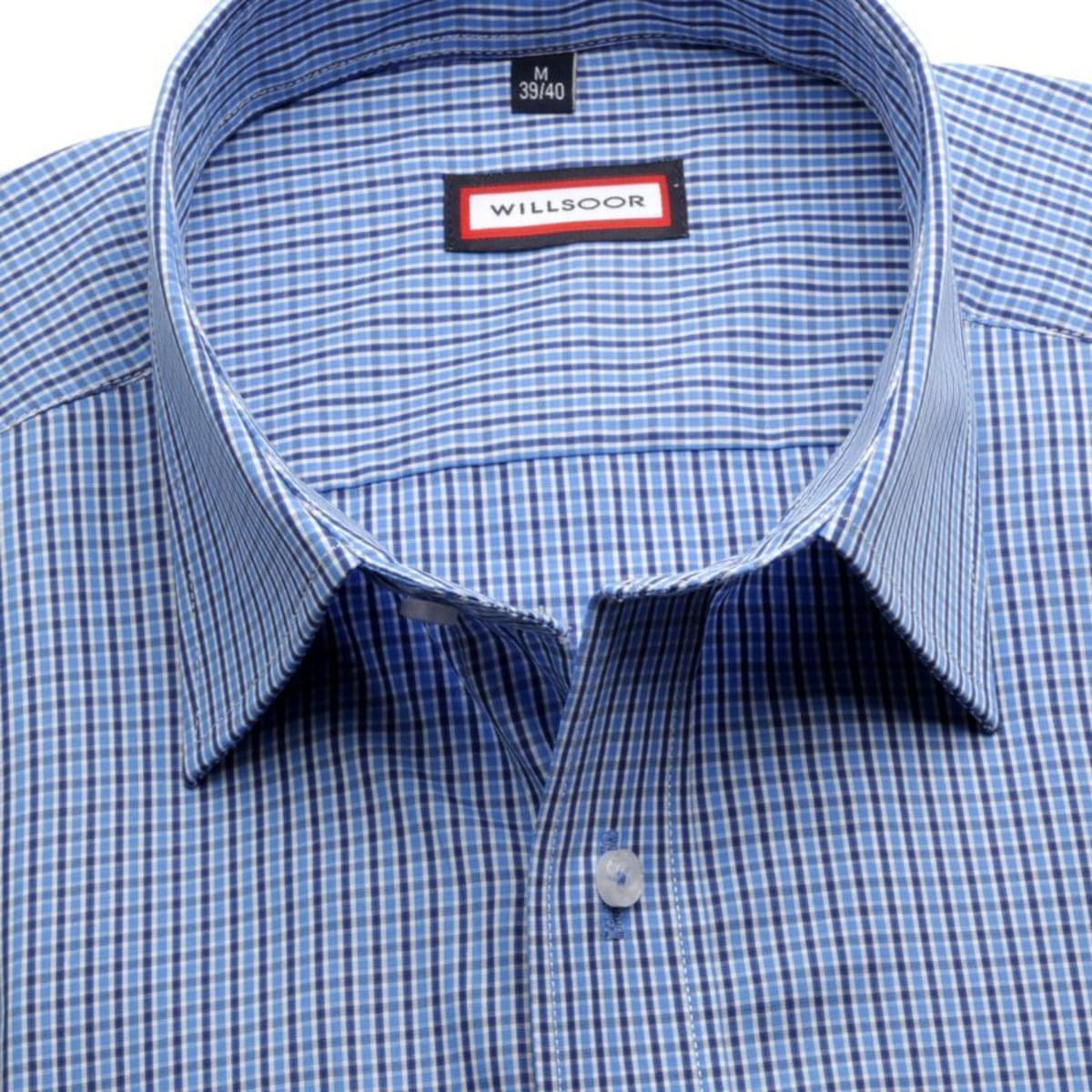 Pánská slim fit košile (výška 176-182) 7365 v modré barvě s formulí Easy Care 176-182 / L (41/42)