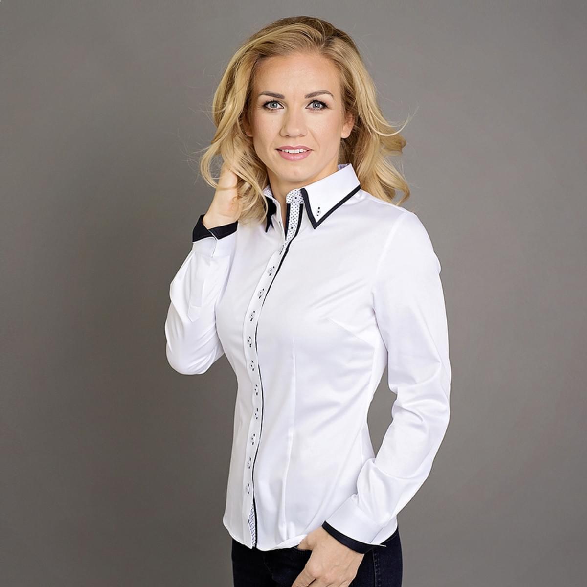 Dámská košile Willsoor 7388 v bílé barvě 36