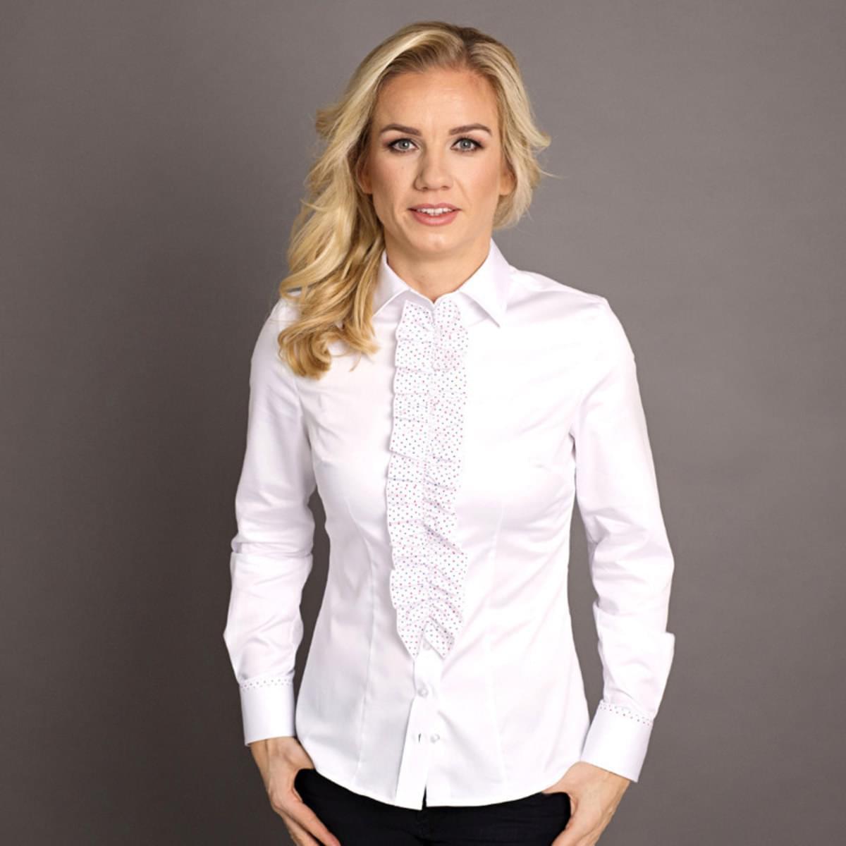 Dámská košile Willsoor 7389 v bílé barvě 34