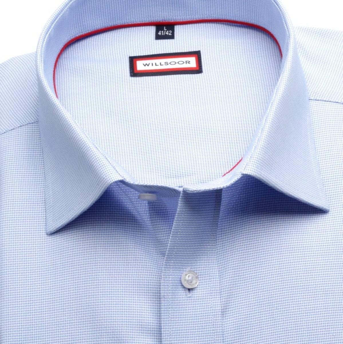 Pánská klasická košile (výška 188-194) 7391 ve světle modré barvě 188-194 / XL (43/44)