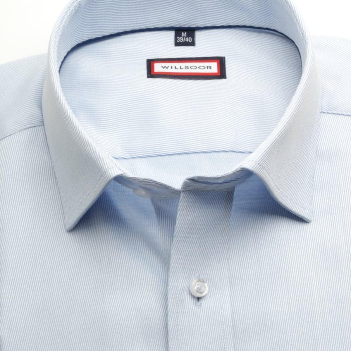 Pánská slim fit košile (výška 176-182) 7398 v modré barvě 176-182 / XL (43/44)