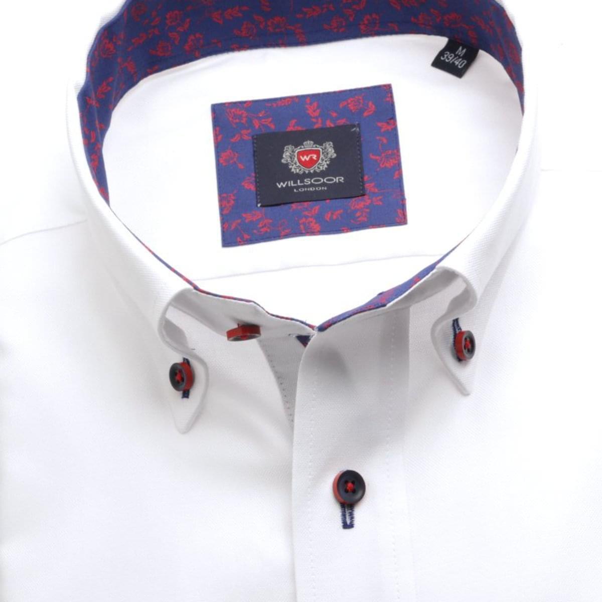 Pánská košile London (výška 176-182) 7425 v bílé barvě 176-182 / L (41/42)
