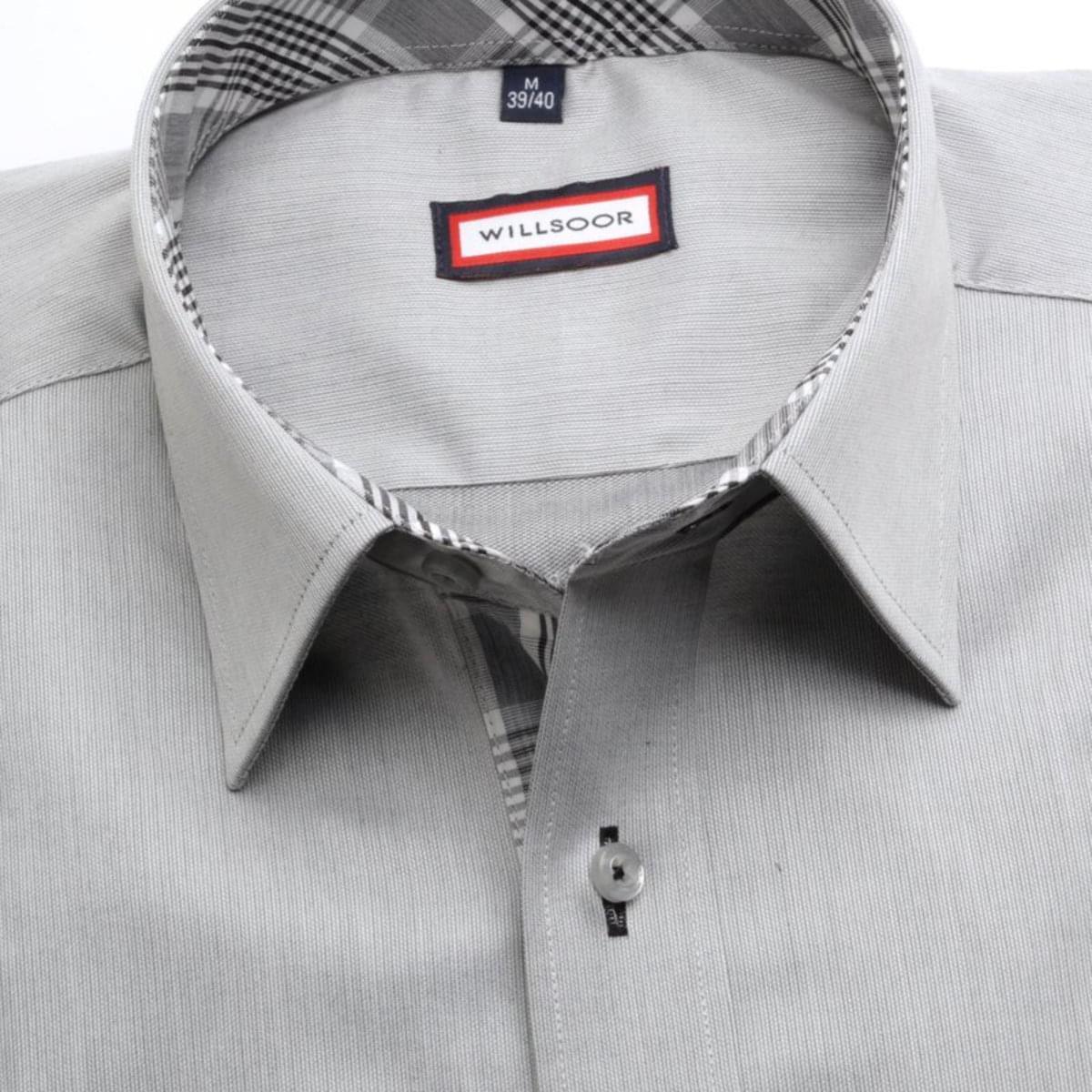 Pánská klasická košile (výška 176-182) 7439 v šedé barvě 176-182 / XL (43/44)