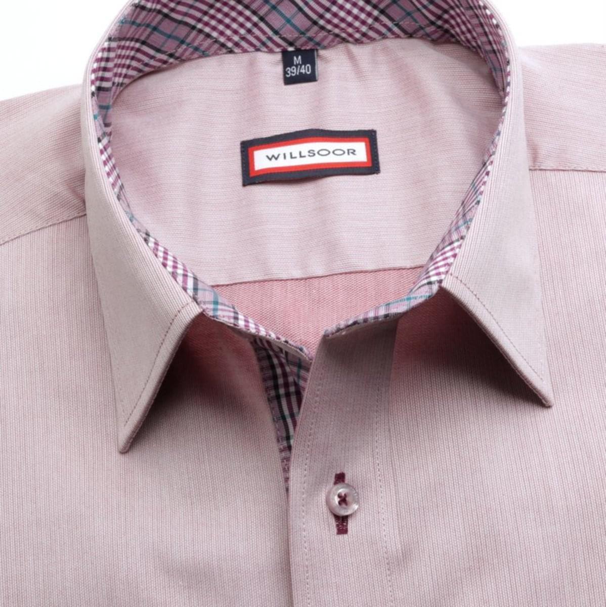 Pánská slim fit košile (výška 164-170) 7444 ve fialkové barvě 164-170 / XL (43/44)