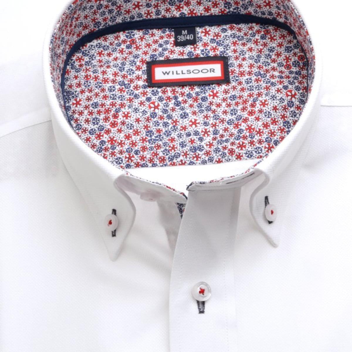 Pánská slim fit košile (výška 176-182) 7453 v bílé barvě 176-182 / XL (43/44)