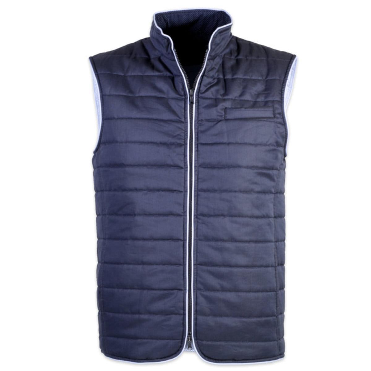 Pánská prošívaná vesta Robin 7542 ve tmavě modré barvě M