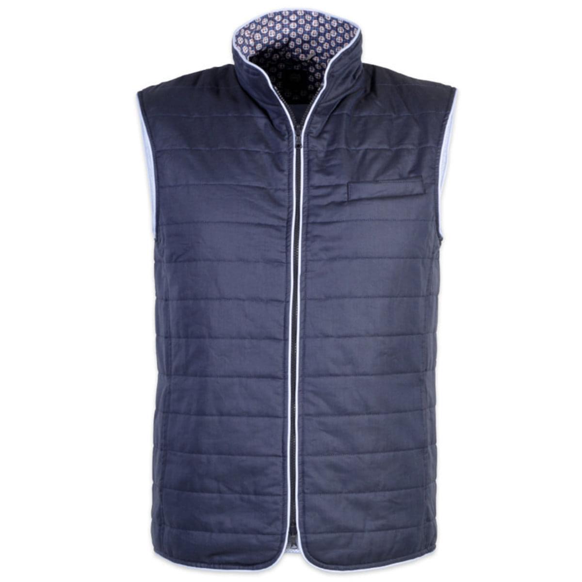 Pánská prošívaná vesta Robin 7543 ve tmavě modré barvě XXL
