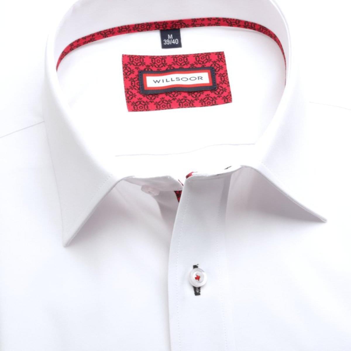 """Pánská slim fit košile (výška 176-182) 7556 v bílé barvě s úpravou """"easy care"""" 176-182 / L (41/42)"""