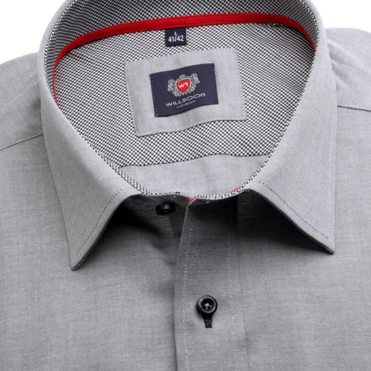 """Pánská klasická košile London (výška 176-182) 7573 v šedé barvě s úpravou """"easy care"""" 176-182 / XL (43/44)"""