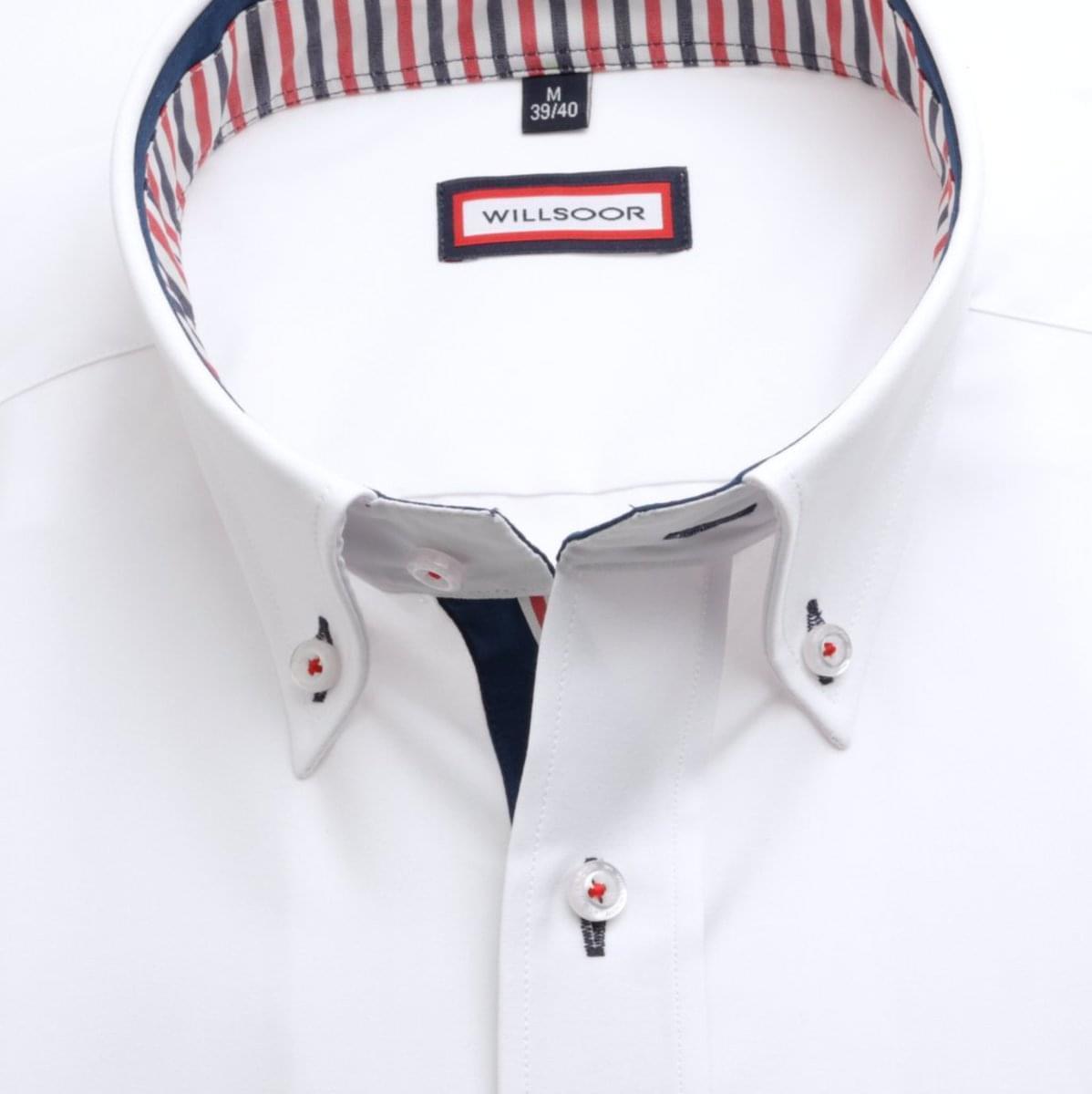 """Pánská klasická košile (výška 188-194) 7588 v bílé barvě s úpravou """"easy care"""" 188-194 / L (41/42)"""