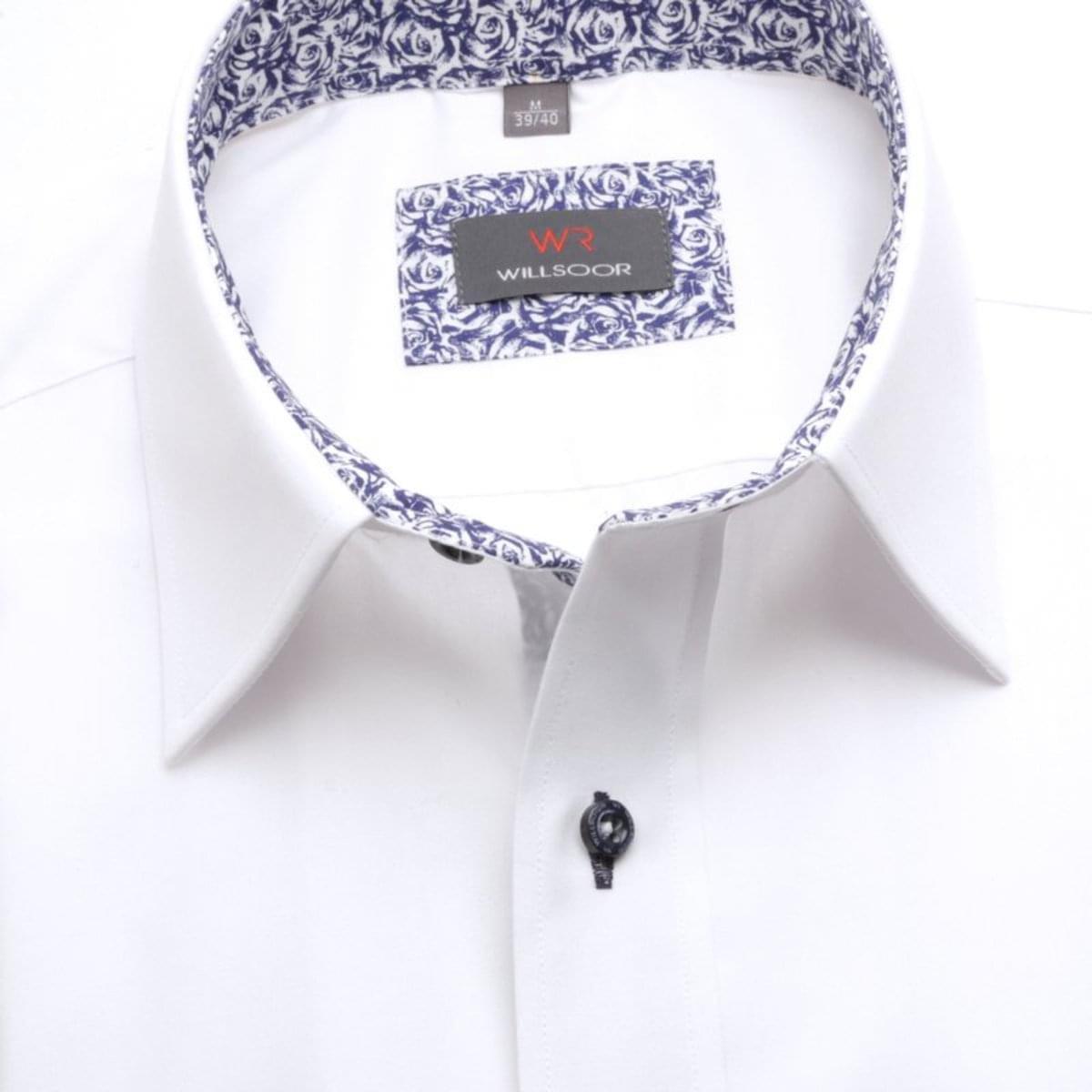 """Pánská slim fit košile (výška 164-170) 7593 v bílé barvě s úpravou """"easy care"""" 164-170 / L (41/42)"""