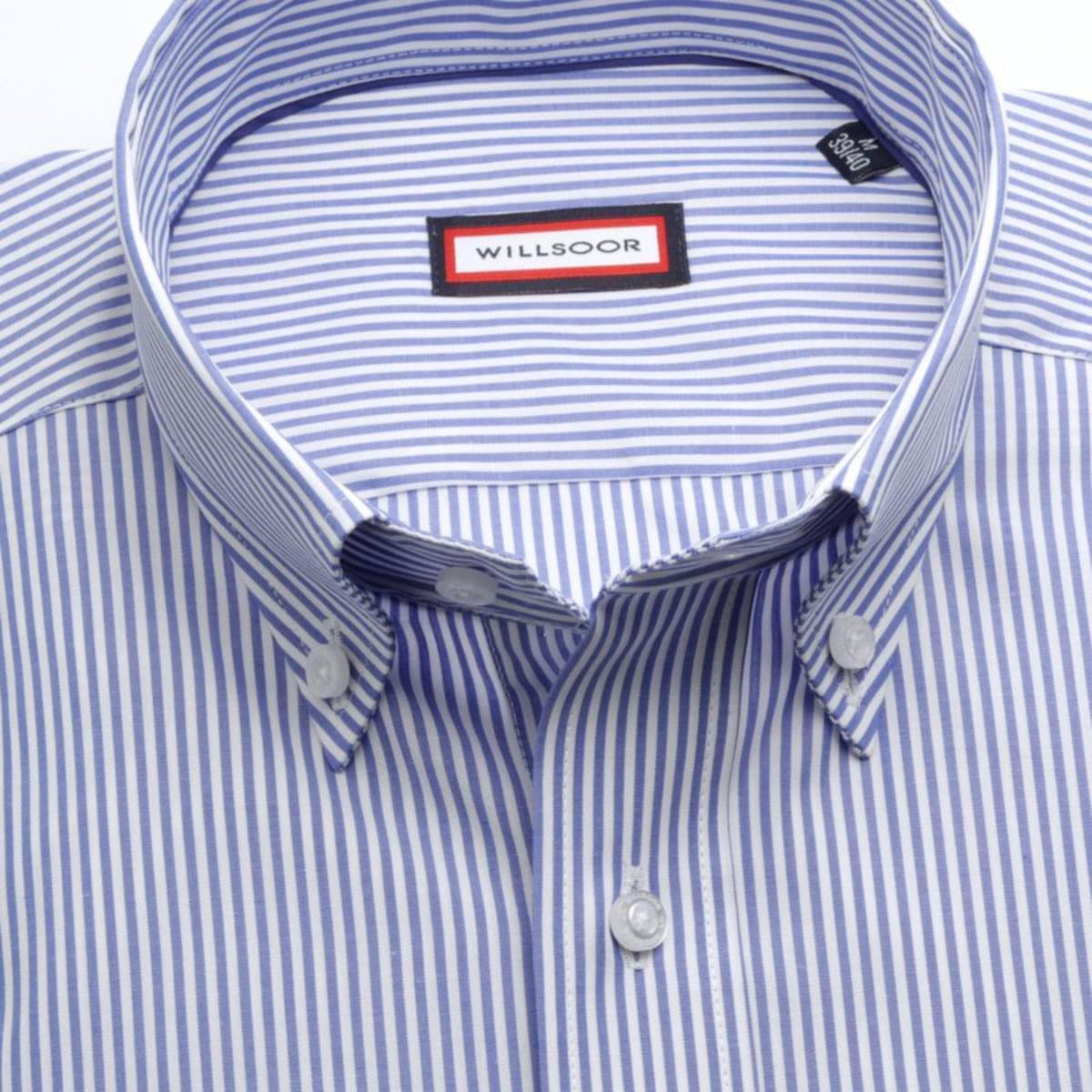 """Pánská slim fit košile (výška 176-182) 7603 v bílé barvě s úpravou """"easy care"""" 176-182 / L (41/42)"""