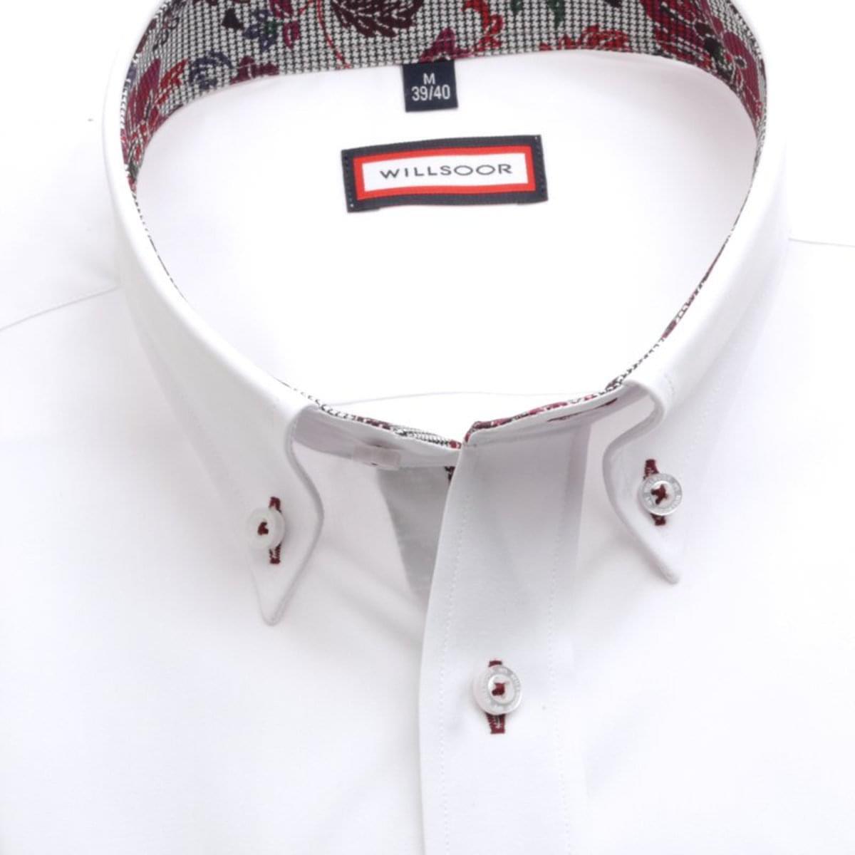 Pánská slim fit košile (výška 176-182) 7630 v bílé barvě 176-182 / M (39/40)