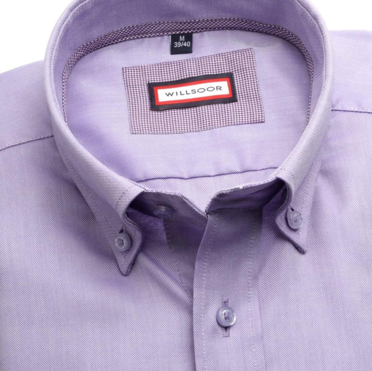 Pánská slim fit košile (výška 176-182) 7674 ve fialkové barvě s úpravou easy care 176-182 / M (39/40)