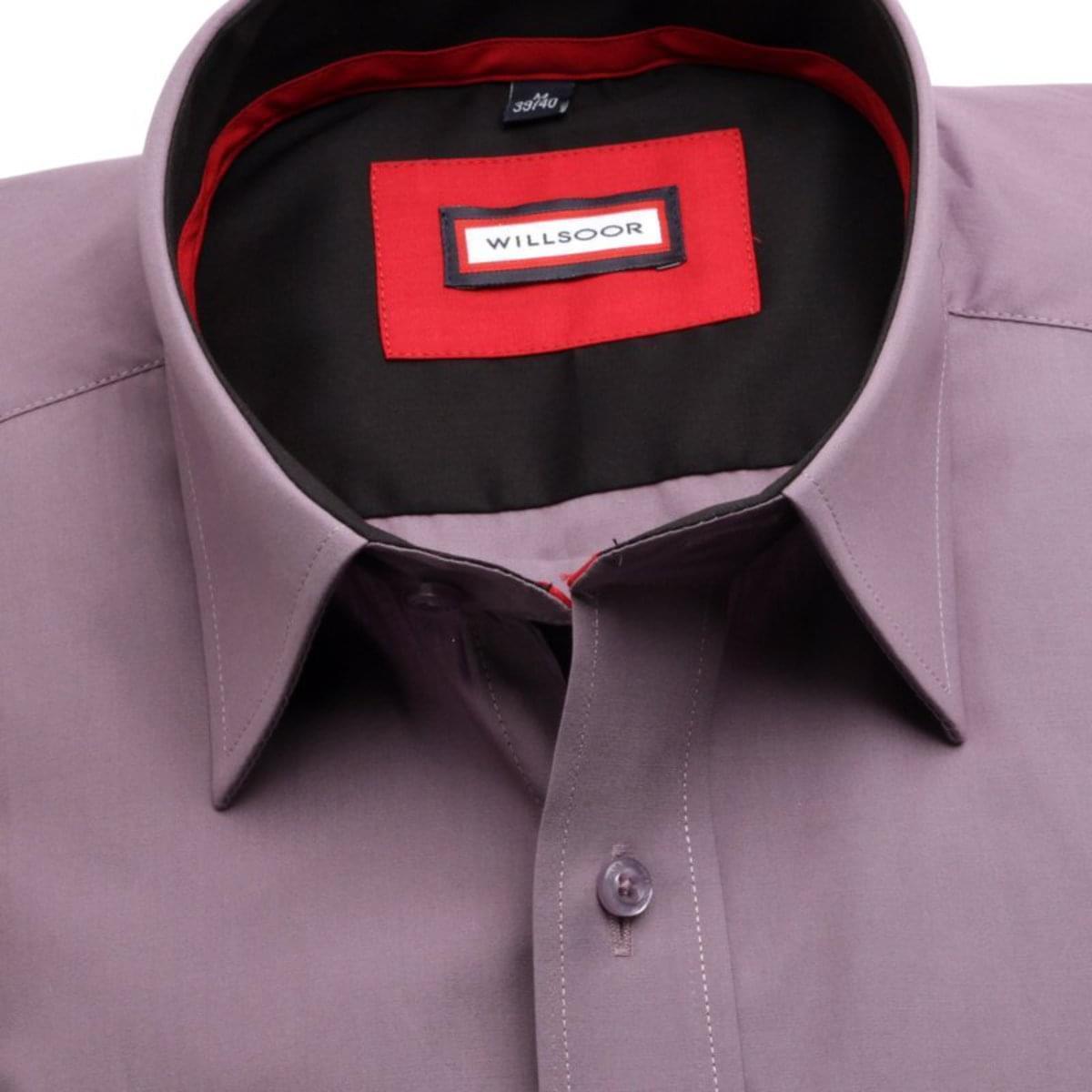 Pánská slim fit košile (výška 188-194) 7676 ve fialkové barvě s úpravou easy care 188-194 / L (41/42)