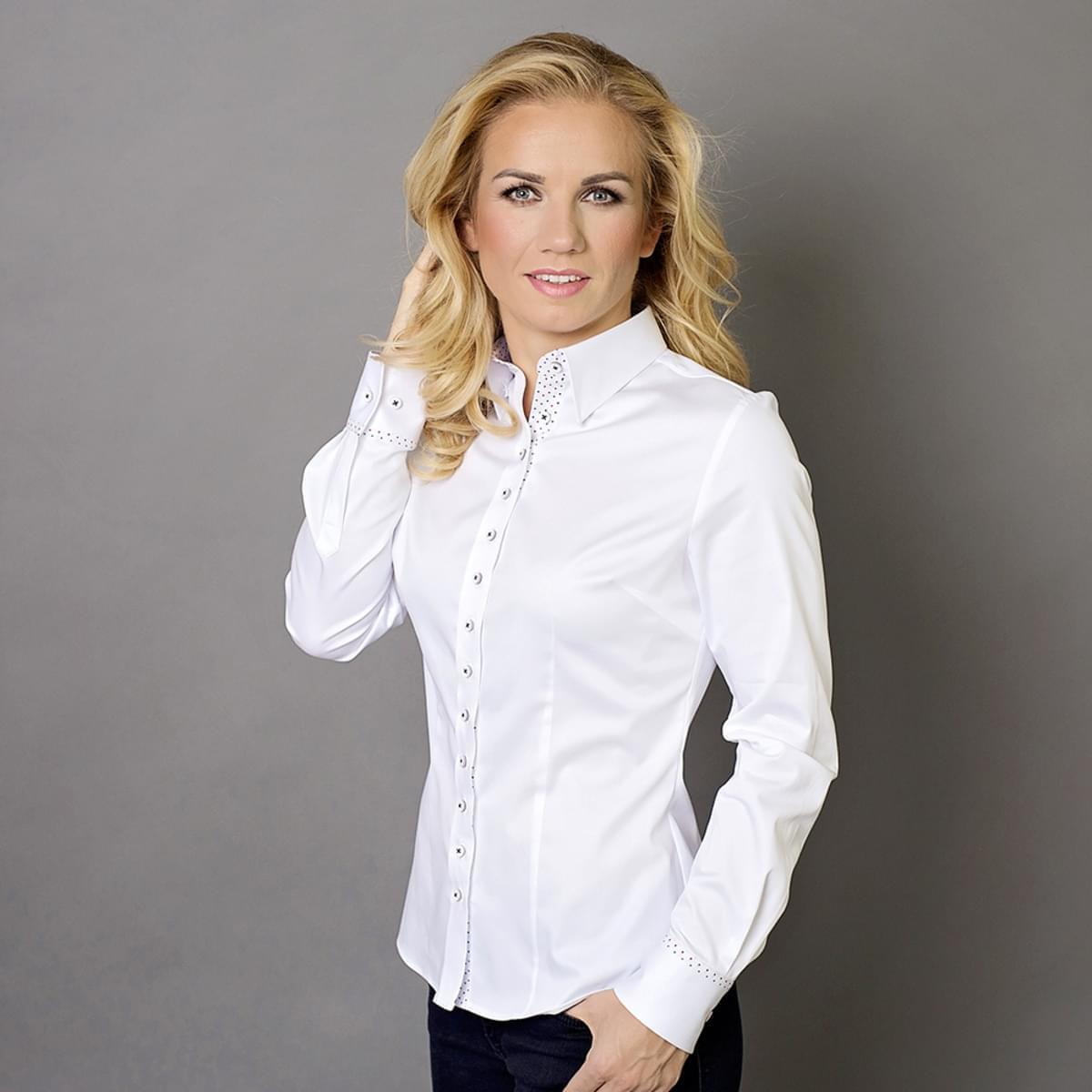 Dámská košile Willsoor 7685 v bílé barvě 34