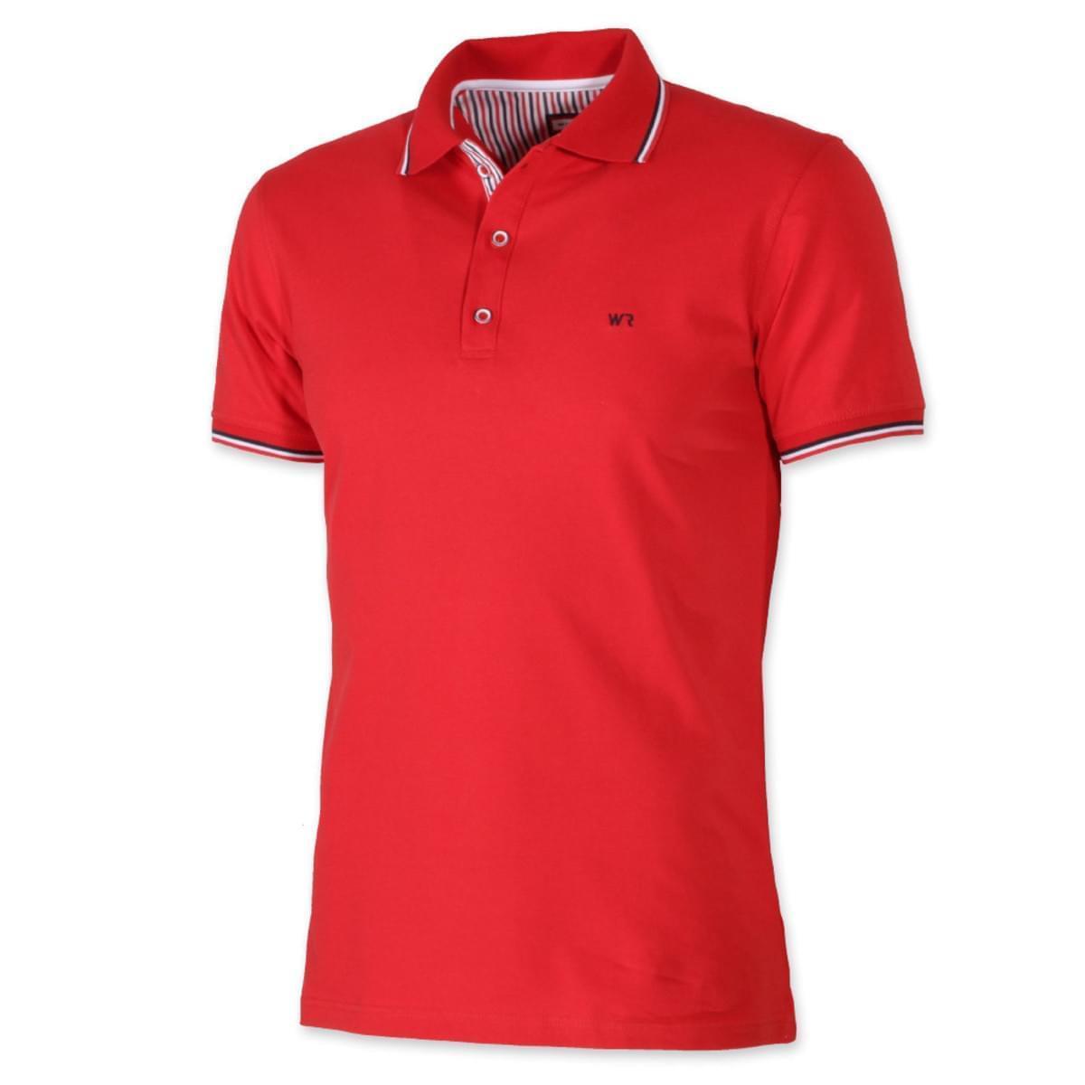 Pánské klasické polo tričko Willsoor 7946 v červené barvě XXL
