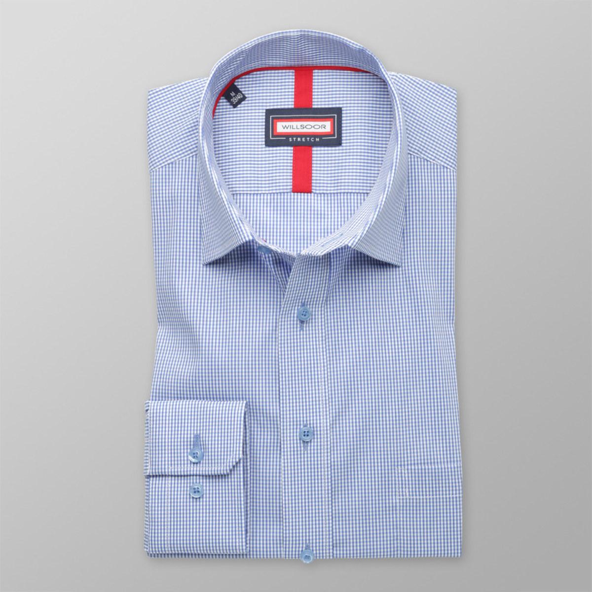 Pánská klasická košile (výška 176-182) 8293 v modré barvě s příměsí elastanu 176-182 / XL (43/44)