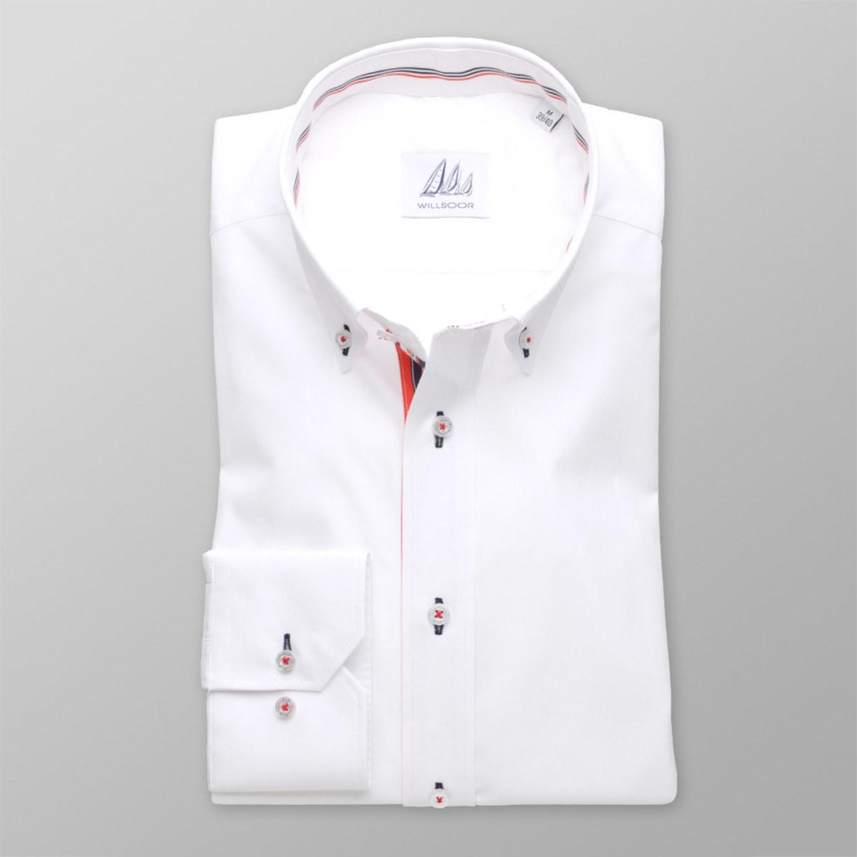 Pánská slim fit košile (výška 176-182 i 188-194) 8300 v bílé barvě 176-182 / M (39/40)