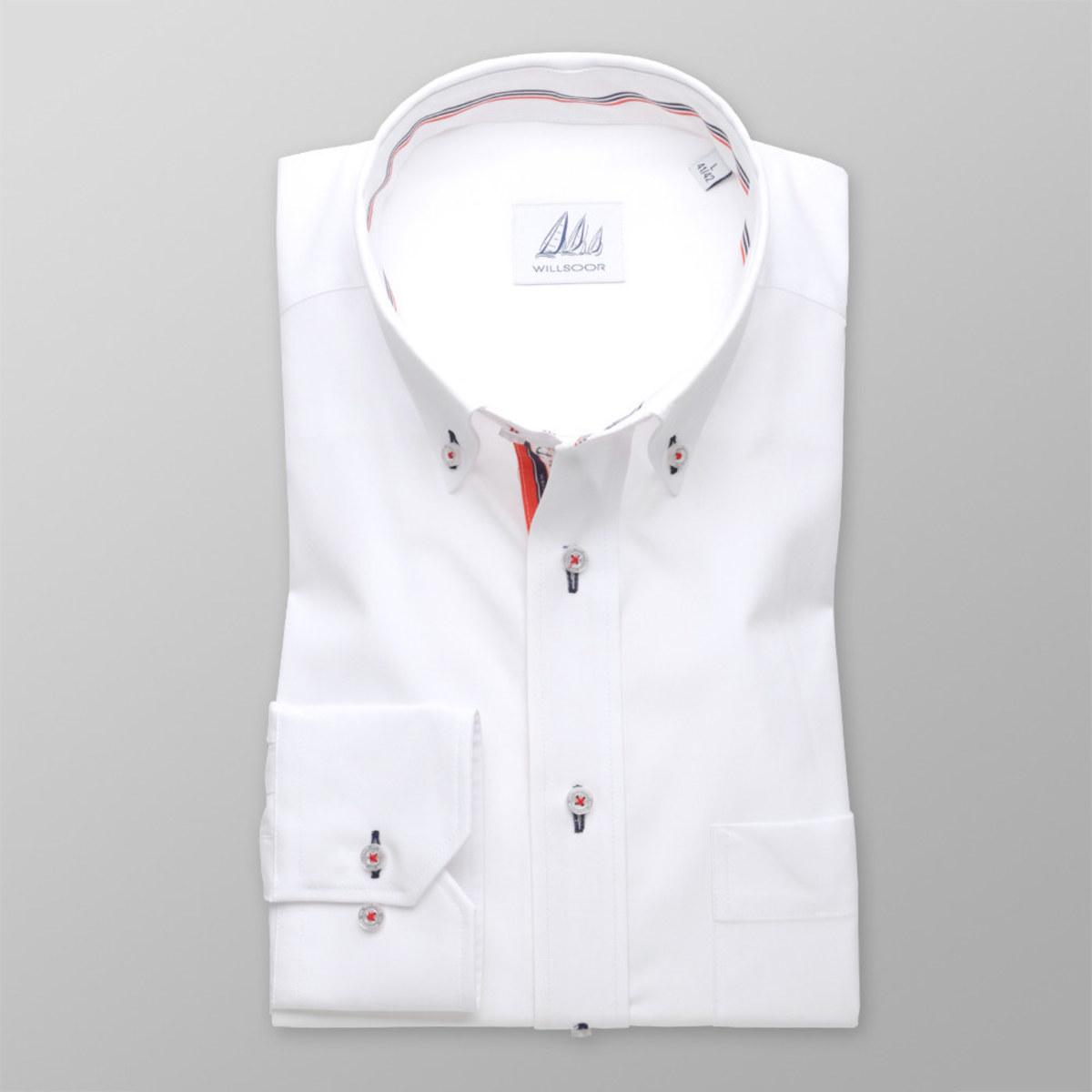Pánská klasická košile (výška 176-182 i 188-194) 8301 v bílé barvě 188-194 / XL (43/44)