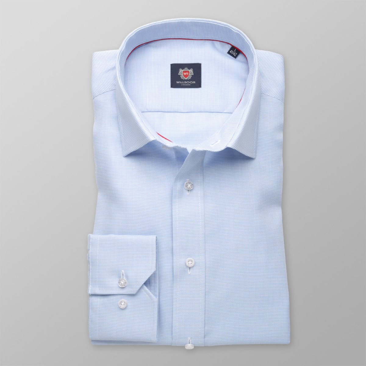 Pánská slim fit košile London (výška 198-204) 8319 v modré barvě 198-204 / XL (Límeček 43/44)