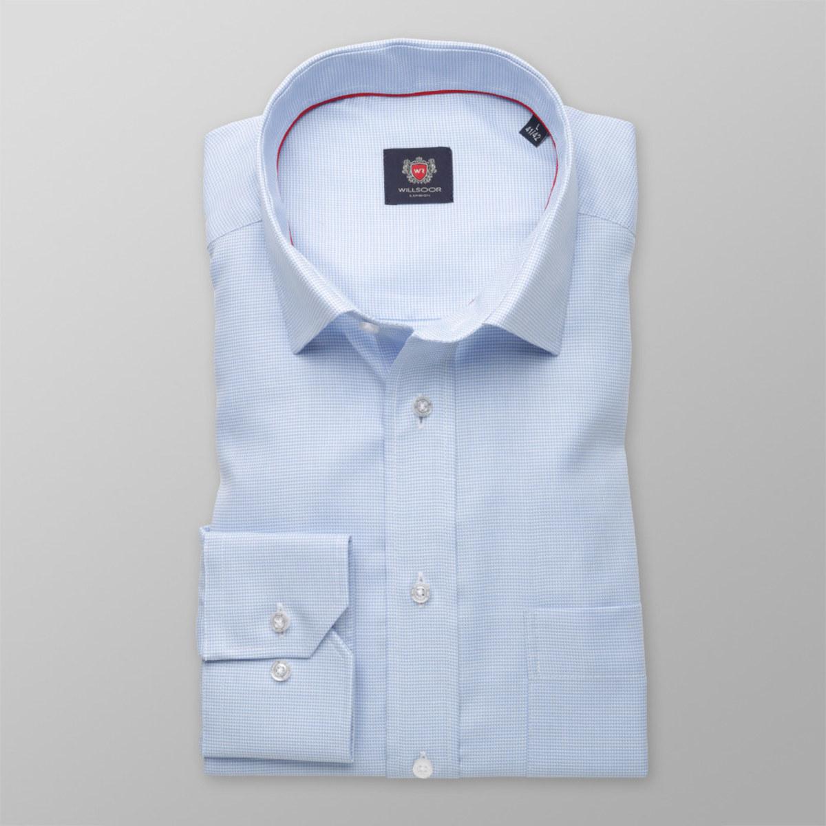 Pánská klasická košile London (výška 198-204) 8320 v modré barvě 198-204 / XL (Límeček 43/44)