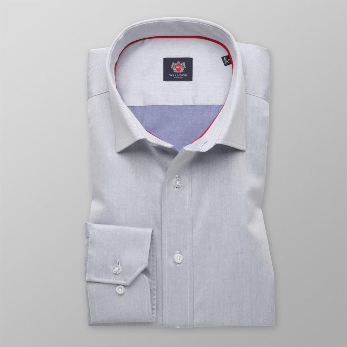Pánská slim fit košile London (výška 198-204) 8321 v šedé barvě 198-204 / L (Límeček 41/42)