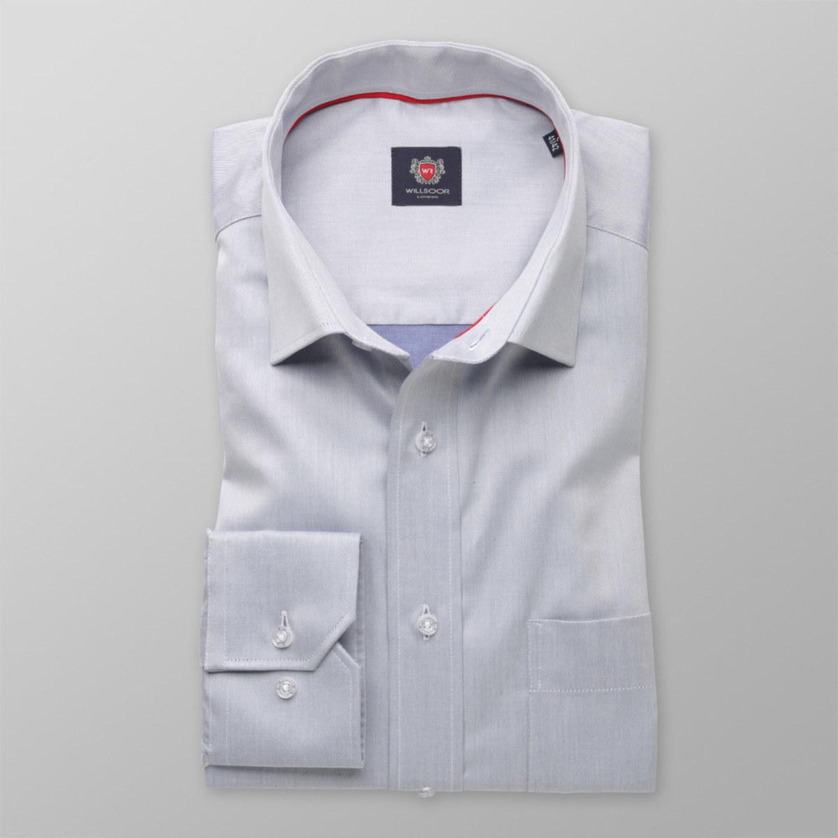 Pánská klasická košile London (výška 198-204) 8322 v šedé barvě 198-204 / XL (Límeček 43/44)