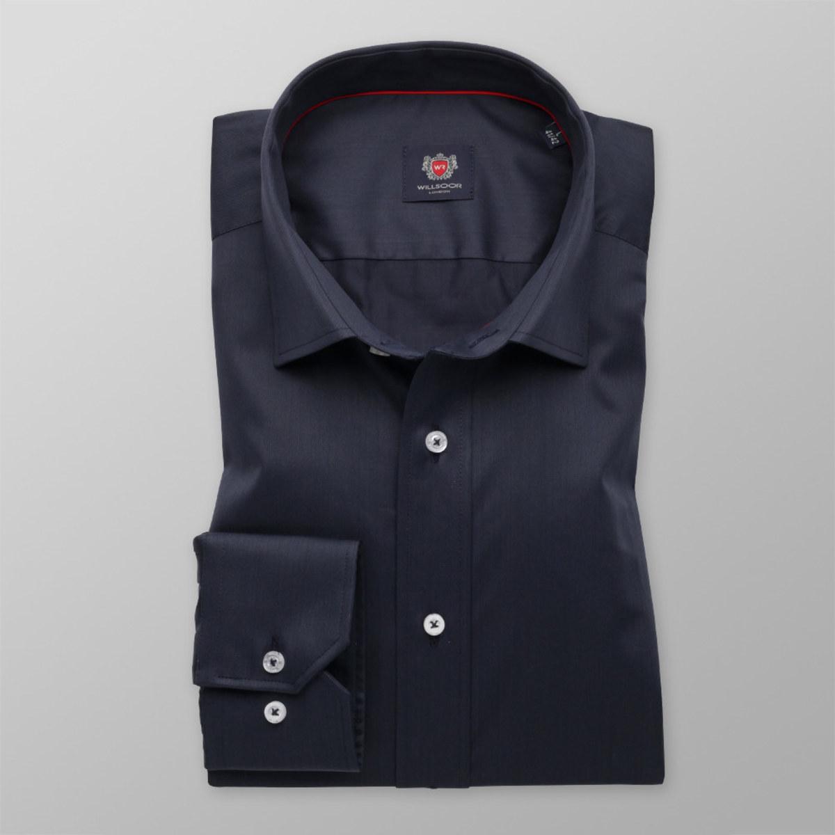 Pánská slim fit košile London (výška 198-204) 8323 v modré barvě 176-182 / XL (43/44)