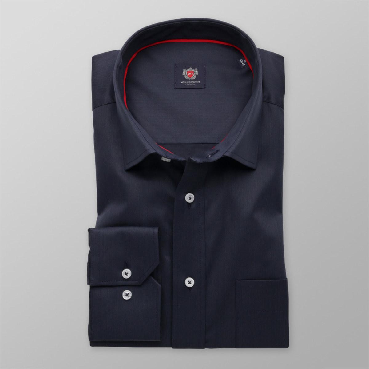 Pánská klasická košile London (výška 198-204) 8324 v modré barvě 198-204 / XL (Límeček 43/44)