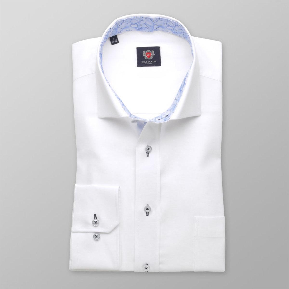 Pánská klasická košile London (výška 176-182) 8373 v bílé barvě 176-182 / XL (43/44)