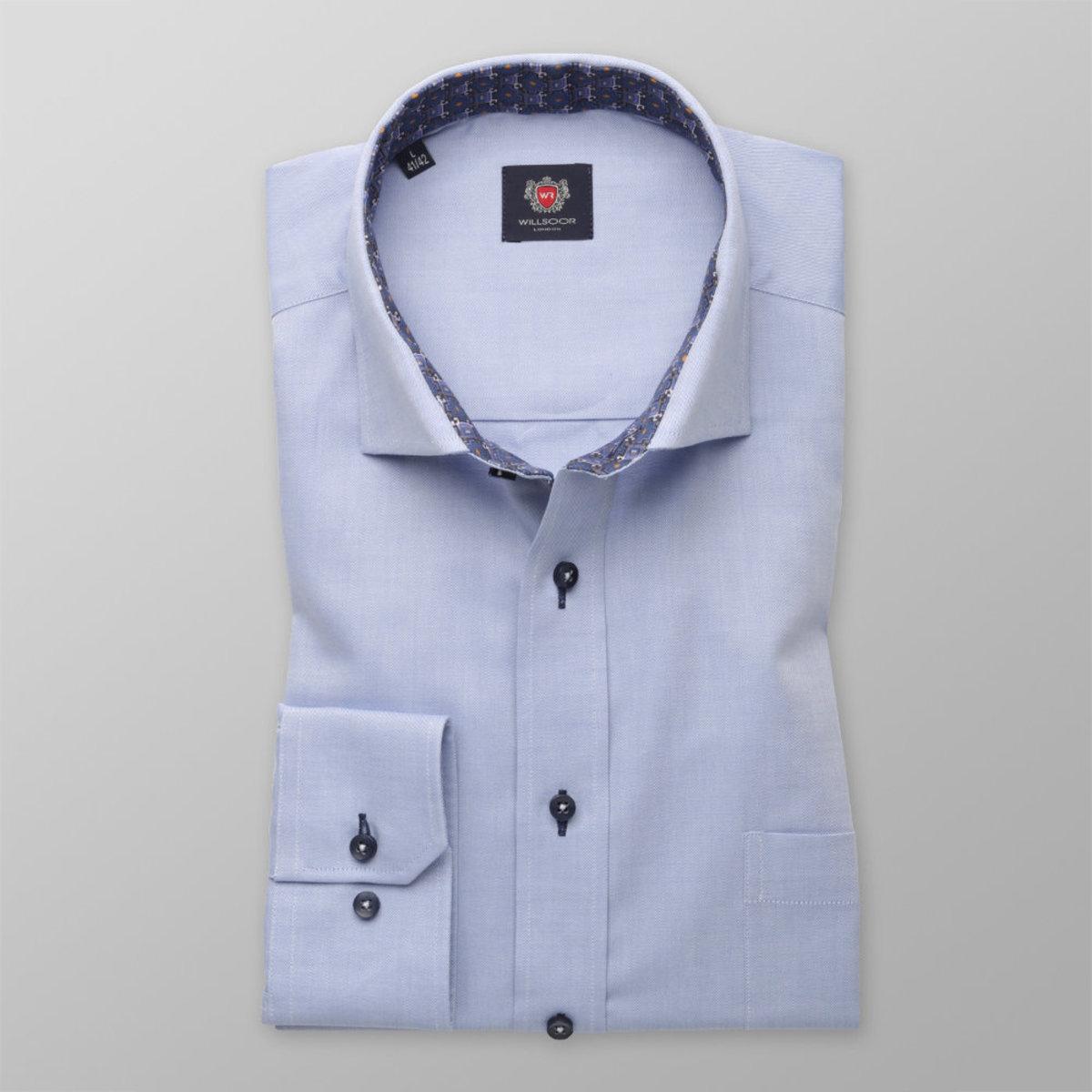 Pánská klasická košile London (výška 176-182) 8375 ve světle modré barvě 176-182 / XL (43/44)