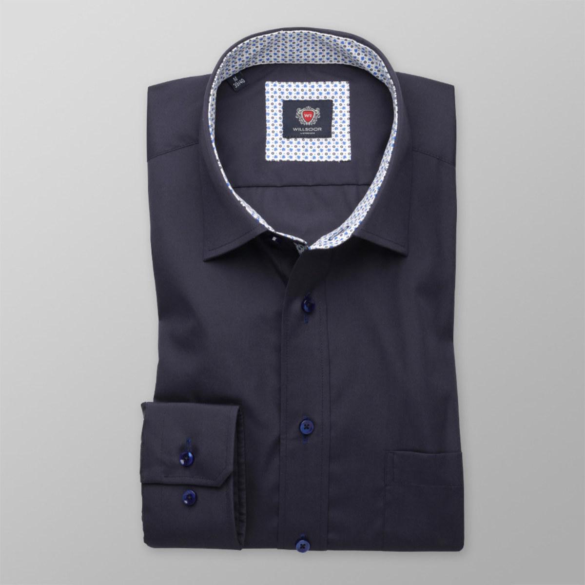 Pánská klasická košile London (všechny výšky) 8379 ve tmavě modré barvě 188-194 / XL (43/44)