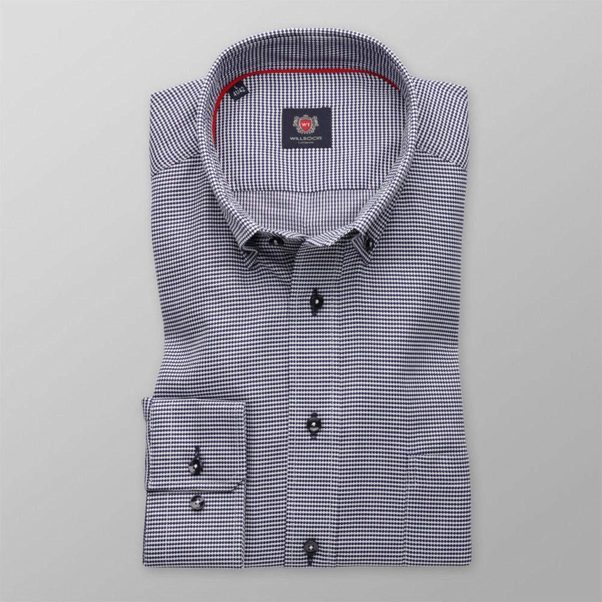 Pánská slim fit košile London (výška 176-182) 8589 se vzorem a úpravou easy care 176-182 / L (41/42)