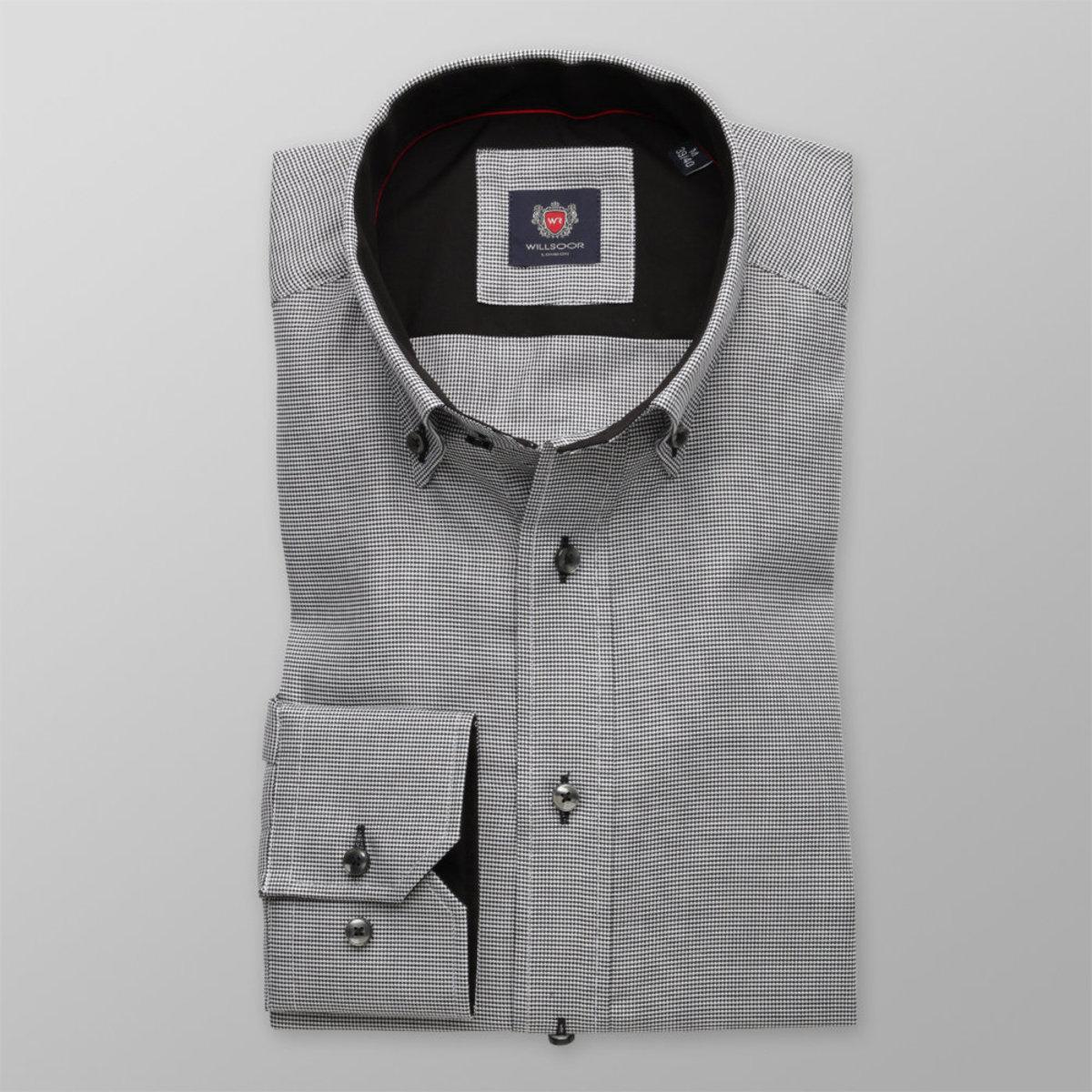 Pánská slim fit London (výška 176-182) 8615 v šedé barvě s úpravou easy care 176-182 / M (39/40)