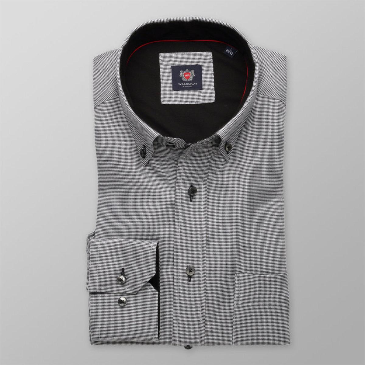 Pánská klasická košile London (výška 176-182) 8616 v šedé barvě s úpravou easy care 176-182 / L (41/42)