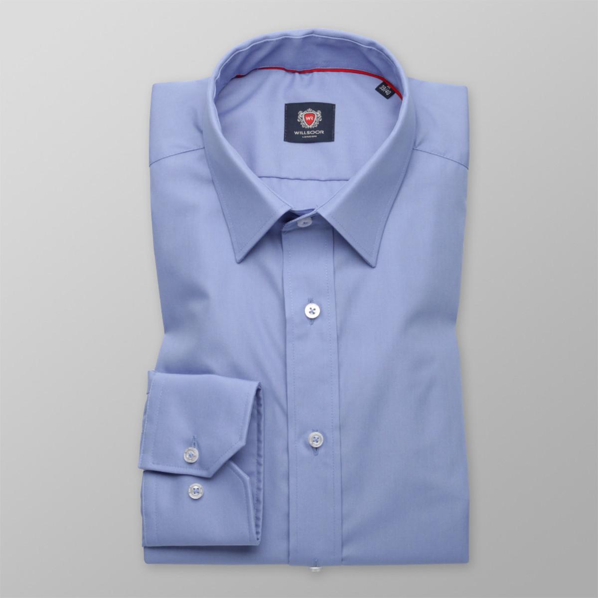 Pánská slim fit košile London (výška 176-182) 8751 v modré barvě s úpravou 2W Plus 176-182 / M (39/40)