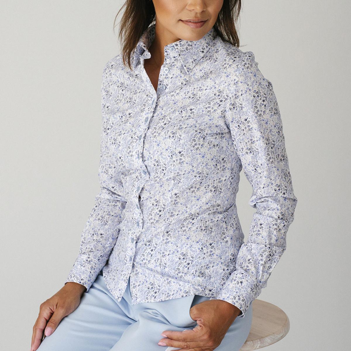 Dámská bavlněná košile s květinovým vzorem 9574 34