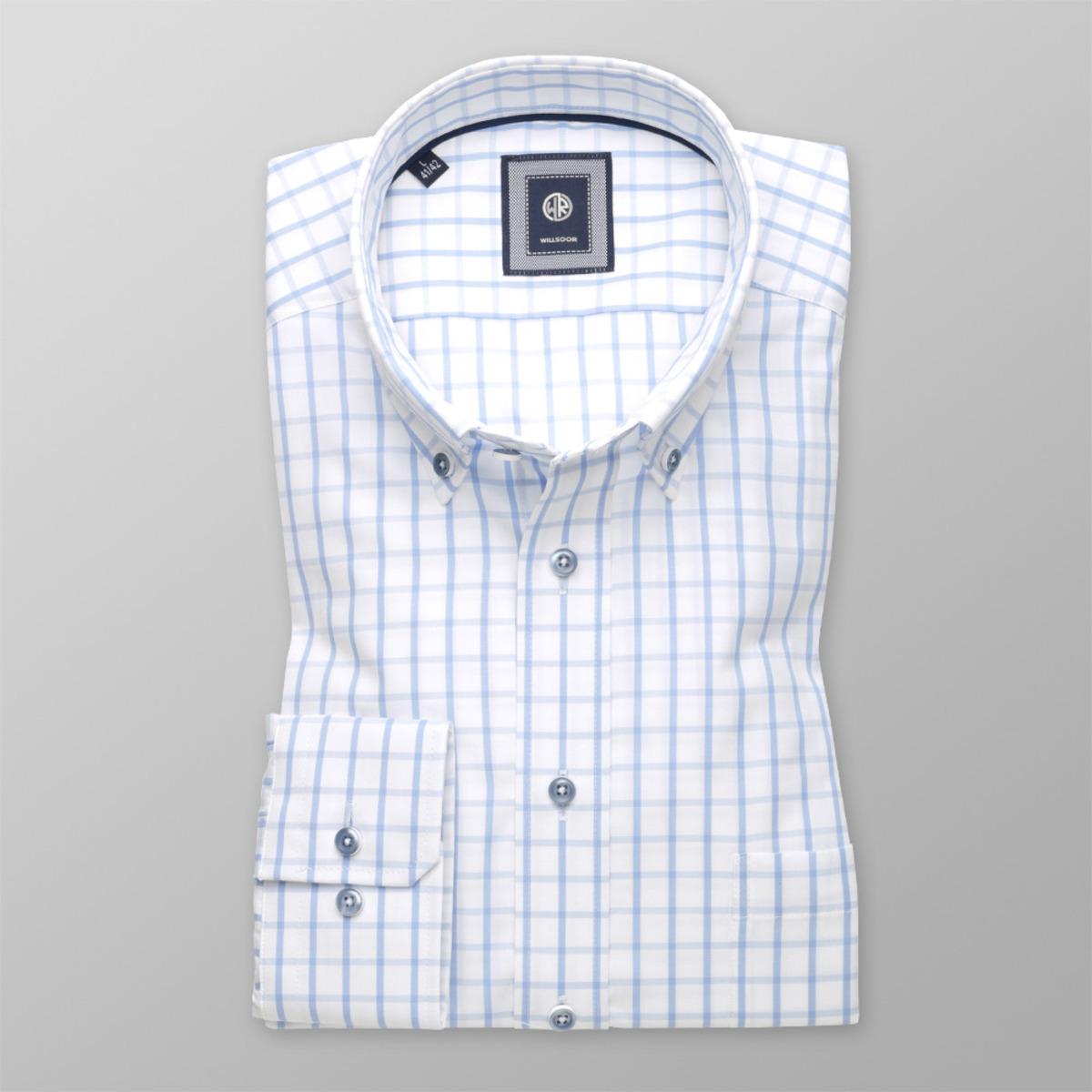 Pánská kostkovaná Slim Fit košile (výška 176-182) 9607 176-182   d70f4a0480