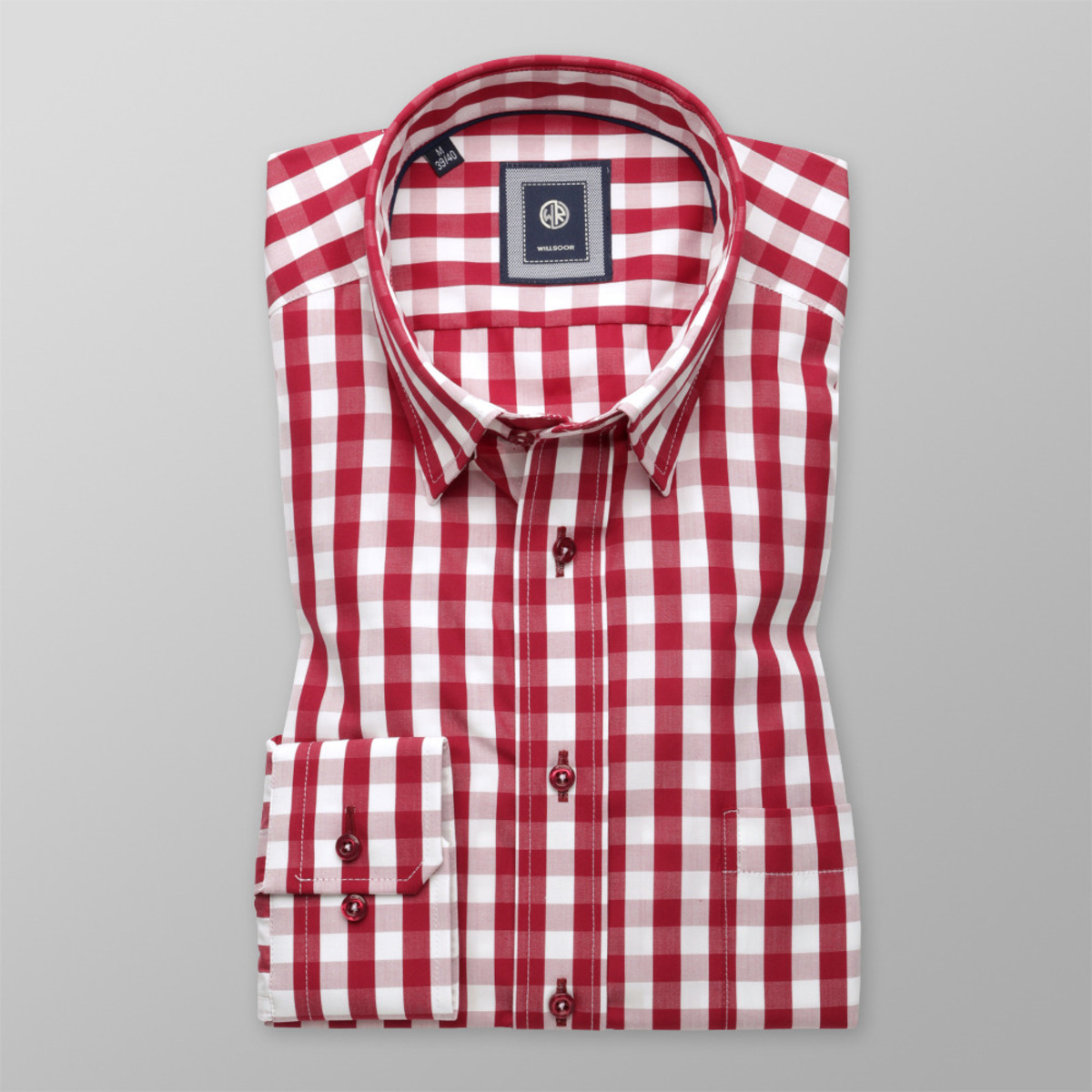 2476410d46b Pánská košile Slim Fit kostkovaná (výška 176-182) 9609 176-182