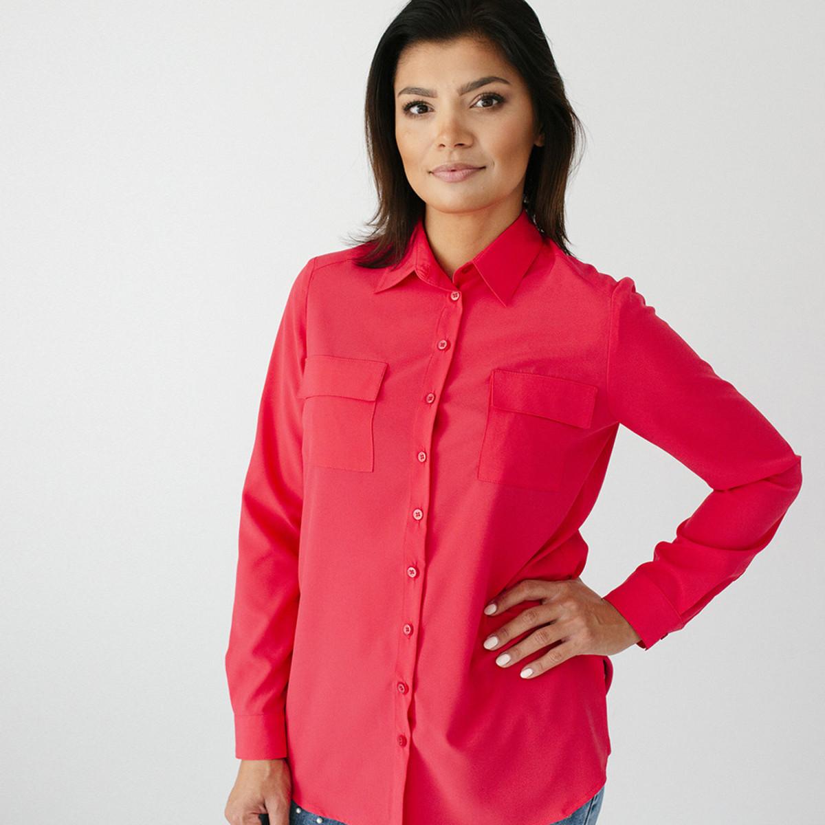 Dámská košile červená 9690 34 44ea0313b7