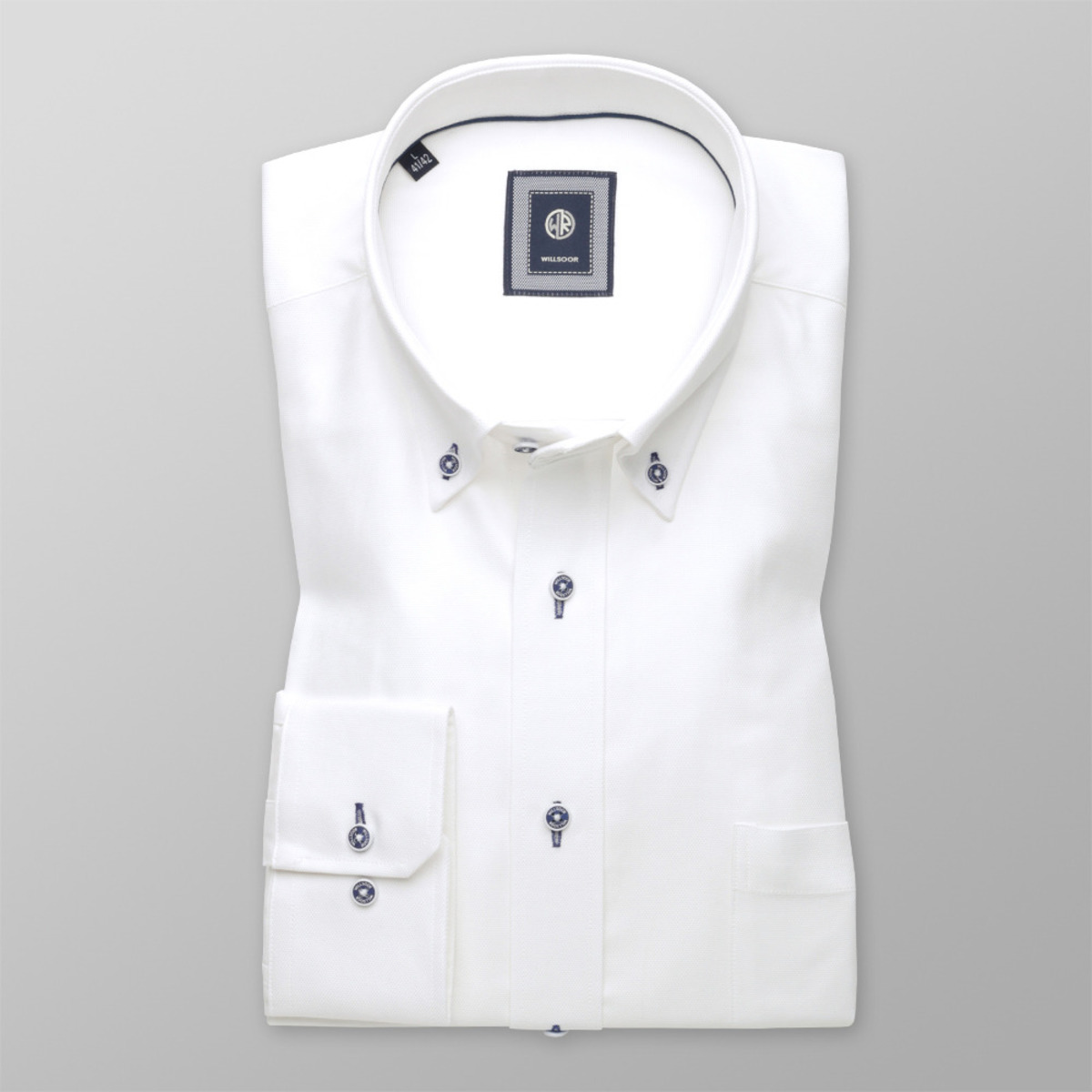 Bílá košile klasická (výška 176-182 a 188-194) 9736 176-182 / L (41/42)
