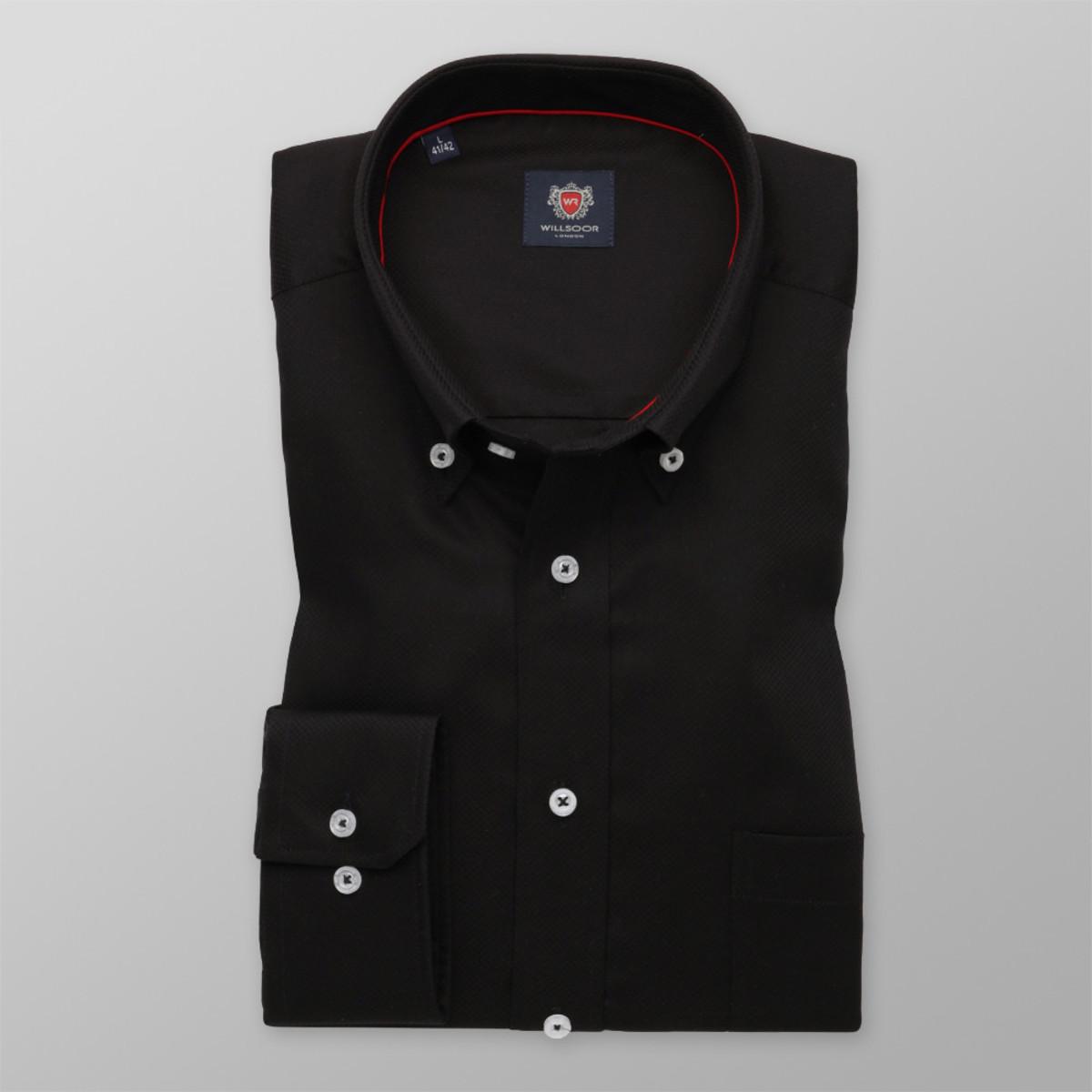 Košile London černá (výška 176-182) 9883 176-182 / L (41/42)