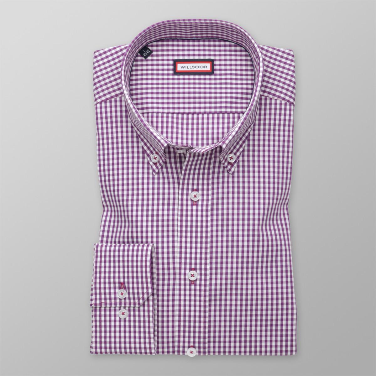 Košile slim fit se vzorem gingham (výška 176-182) 9888 176-182 / M (39/40)