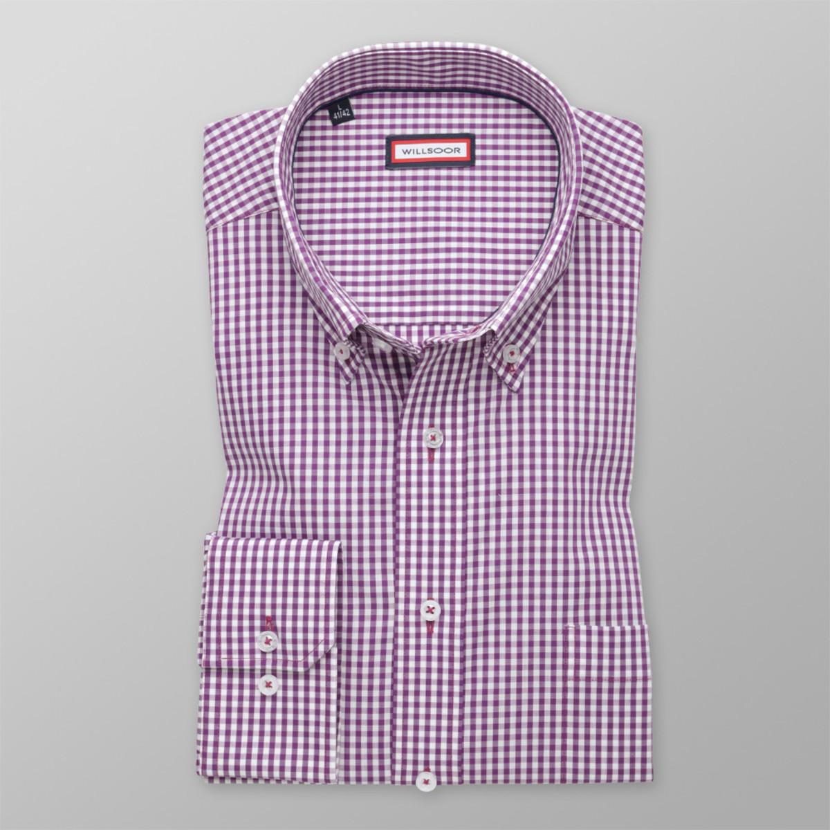 Košile klasická se vzorem gingham (výška 176-182) 9889 176-182 / L (41/42)